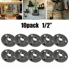 """10 X 1/2"""" Malleable Threaded Floor Flange Cast Iron Pipe Fitting BSP Wall Mount"""