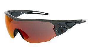 BZ Optics Sports Sunglasses - CRIT Graphite Frame - Orange Mirror HD  Lens
