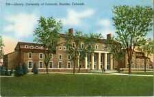 Colorado ~ BOULDER ~ Library University Of Colorado Postcard 16004