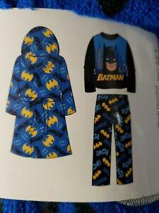 Batman One Piece Fleece Sleeper Size 4-5 XS 6-7 S New zippered sleepwear Pajamas