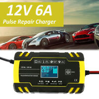 12 / 24V Chargeur De Batterie Moto Auto Voiture Digital Indicateur Smart BR