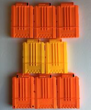Lot Of 8 Replacement Nerf Gun Ammo Clips 6 Round Magazines Yellow and Orange