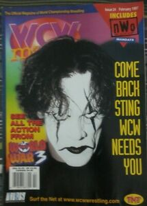 WCW Magazine Issue 24 (February 1997) Sting on the cover