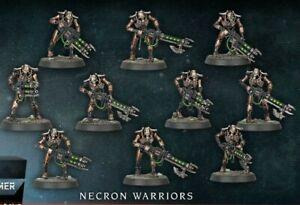 Warhammer 40k Necron Warriors (10) 2020 version Indomitus Gauss Flayer/Reaper