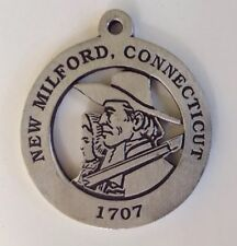 John and Sarah Noble New Milford Historical Society Pewter Medallion