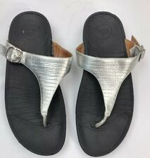 cd4290b3c9fb Fitflop Women s The Skinny Silver Flip-Flop Sandals Style 350-011 Size US