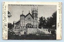 Weatherly, PA - RARE c1907 PMC POSTCARD - ST NICHOLAS CHURCH - MILLER - S3