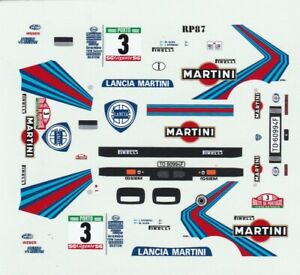decals Rally Portugal 1/43 - Lancia Delta Integral  #3 1987 Winner Markku Alén