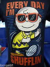 Mens Peanuts Brand Charlie Brown Everyday I'm Shufflin' Shirt New M