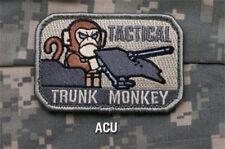 Mil-Spec Monkey TACTICAL TRUNK MONKEY morale patch hook back ACU