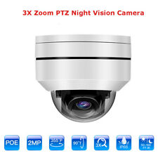 1080P 2MP PTZ POE IP Camera 3x Optical Zoom Waterproof Night Vision for Monitor