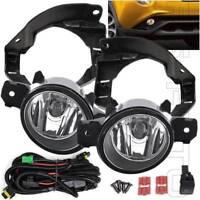 Fit 2015-2017 Nissan Juke Clear Lens Fog Light Kit Wire Harness Switch Bracket