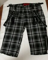 Tripp NYC Cropped Pants Green Plaid Size 3 - Capri, Straps, Punk, Emo, Rock