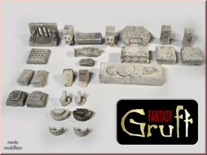 Gruft-Set Grabkammer Burgbausteine, Tabletop Fantasy men100052