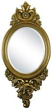 (D) Baroque Style Wall Mirror with Luxurious Floral Decor 42 x 20 Inches