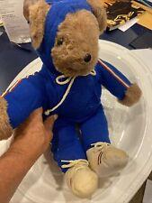 Albert Running Bear North American Bear Co. Vintage Plush   1979 Blue 1 Pc Suit