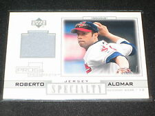 ROBERTO ALOMAR INDIAN STAR LEGEND AUTHENTIC GAME USED JERSEY CARD CERTIFIED RARE