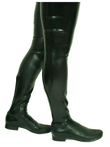 """PROMOTION ! ! LATEX RUBBER FETISH BOOTS SIZE 4-12- HEELS 0""""-0CM  POLAND"""