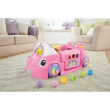 Fisher-Price Laugh and Learn Smart Stages Crawl Around Car, Pink
