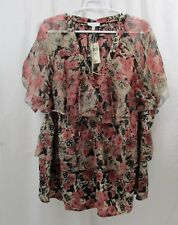 Women's Lucky Brand Ruffled  Shirt  3X