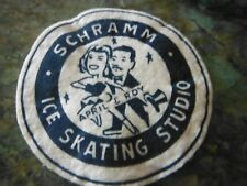 Vintage 1960's Roy and April Schramm Paired Ice Skating Studio Los Angeles Patch