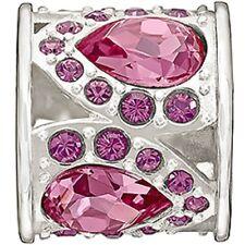 Authentic NEW Chamilia Royal Petals Pink & Purple Swarovski Bead 2083-0452