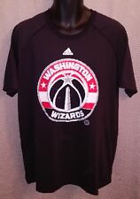 Washington Wizards Black Adidas Polyester Workout T-Shirt NWOT - Mens XL