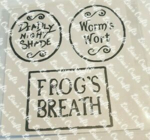 DEADLY NIGHT SHADE,WORMS WORT, FROGS BREATH, NIGHTMARE BEFORE CHRISTMAS