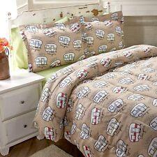 Happy Camper Comforter Set - Cute Bedding for Outdoor Lovers, Kids, Teens
