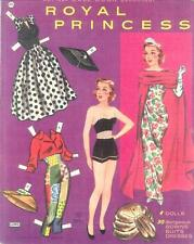 Vintge 1961 Royal Princess Paper Doll ~Pretty Laser Reproduction~Orig Size Uncut
