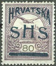 Yugoslavia SHS Croatia 1918, 70fil. Turul Unissued Stamp, MH