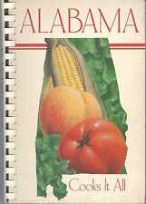 Alabama Cooks It All Cookbook American Cancer Society 1981 Game & Fish Seafood