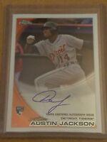2010 Topps Chrome Rookie Autographs #177 Austin Jackson Detroit Tigers Auto Card