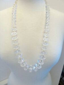 NEW  JOAN RIVERS  CLEAR LUCITE NECKLACE