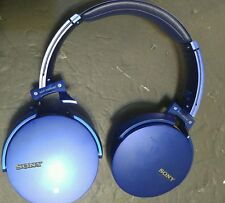 "SONY MDR-XB950BT/L Wireless Headset Blue for parts ""broken HINGES"""