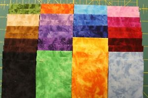 2.5 x 44 A 100/% Cotton Quilt Fabric by Marcus Fabrics and Choice Fabrics Jelly Roll BATIK 40 Strips