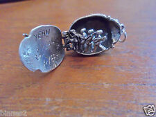THE BEATLES STERLING SILVER OPENING HINGED BEETLE WITH THE BEATLES INSIDE ! YEAH