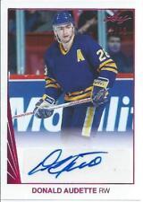 2017-18 Leaf Hockey Cards DONALD AUDETTE #BA-DA1 1990 Leaf Autograph 17/30