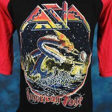 vintage 80s Asia Concert Jersey T-Shirt Xs/S rock metal dragon tour raglan thin