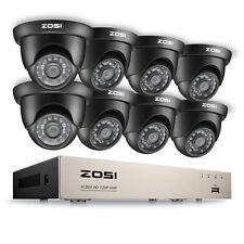 Zosi 8Ch 1080N Hdmi Dvr Hd 1500Tvl Outdoor Dome Cctv Home Security Camera System