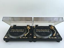 2 Technics SL1200GLD 24Karat Gold Plated LIMITED EDITION w/ Original Box