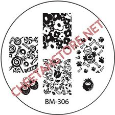 Stamping plaque Bundle Monster BM306 pour vernis ongles