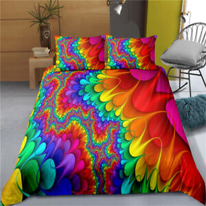 Colourful Single/Double/Queen/King/Super King Bed Doona/Quilt/Duvet Cover Set