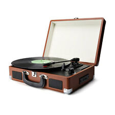 Record Player Portable Briefcase Vintage for Vinyl Records with USB & SD Card