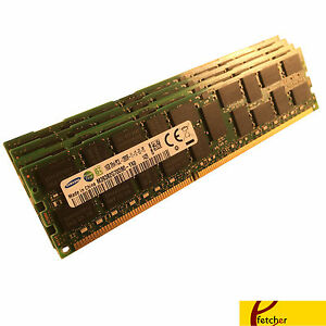 64GB (4 x 16GB) PC3-12800R DDR3 1600 ECC Reg Server Memory RAM RDIMM Upgrade