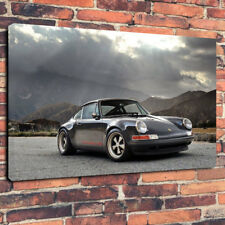 "German Classic Car Printed Canvas Picture A1.30""x20"" 30mm Deep Wall Art Mancave"
