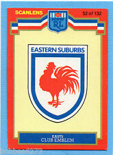 1986 SCANLENS RUGBY LEAGUE-EASTERN SUBURBS CHECKLIST