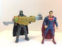 DC Comics Armored Batman vs Superman Action Figures Toy Lot Of 2 Mattel 2015