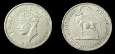 South Rhodesia 1939 2 Shilling Rare Key Date, CH AU, Low Mintage 120,000