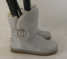 Silver  Urban glittery rhinestone ankle  boot  Size.   7.5